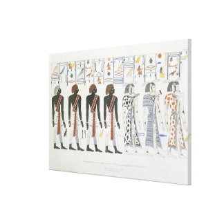 Illustrations of hieroglyphics from the Tombs of t Stretched Canvas Prints