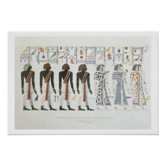Illustrations of hieroglyphics from the Tombs of t Poster