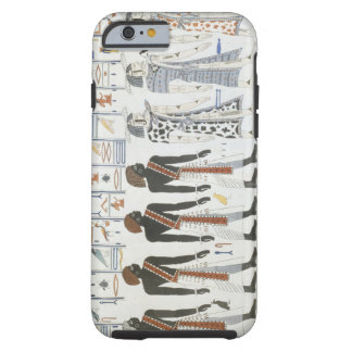 Illustrations of hieroglyphics from the Tombs of t Tough iPhone 6 Case