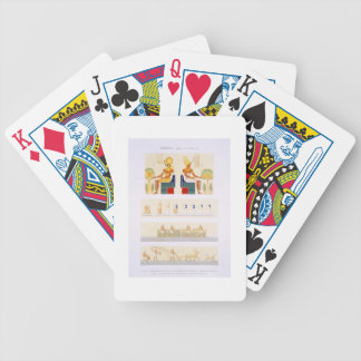 Illustrations of painted boards and murals from th bicycle card deck