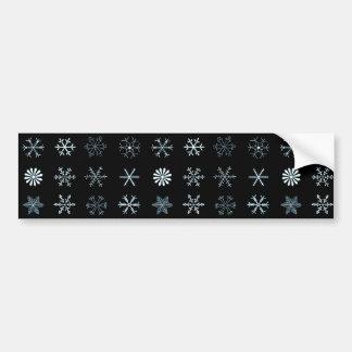 Illustrations of Snowflakes (black) Bumper Sticker