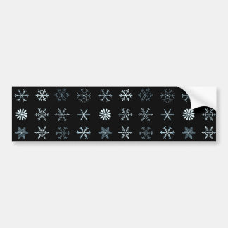 Illustrations of Snowflakes (black) Car Bumper Sticker