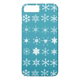 Illustrations of Snowflakes (teal) iPhone 8 Plus/7 Plus Case