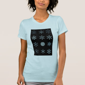Illustrations of Snowflakes T-shirt