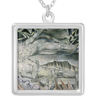 Illustrations of the Book of Job; Job's Evil Silver Plated Necklace