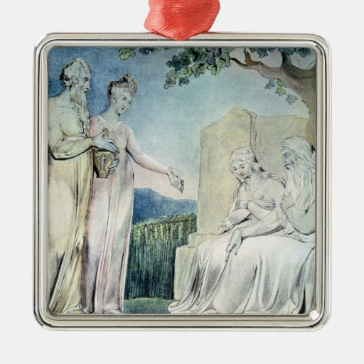 Illustrations of the Book of Job Square Metal Christmas Ornament