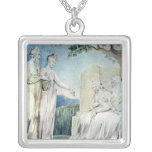 Illustrations of the Book of Job Square Pendant Necklace