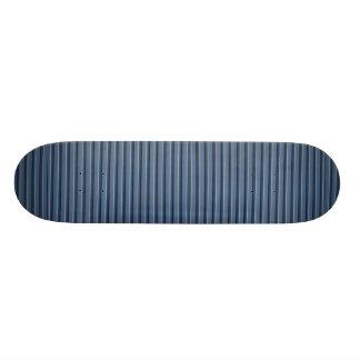 Illustrative Blue aluminum siding Skate Deck
