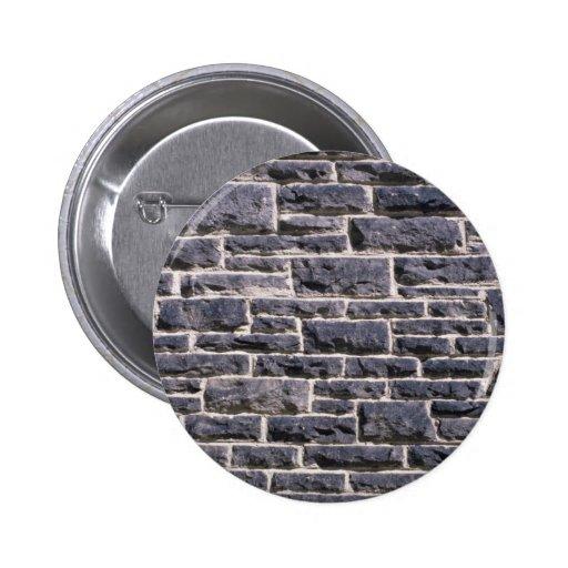 Illustrative Brick church wall 2 Inch Round Button