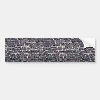 Illustrative Brick church wall Car Bumper Sticker