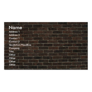 Illustrative Brown brick wall Business Card