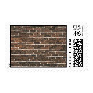 Illustrative Brown brick wall Postage Stamp