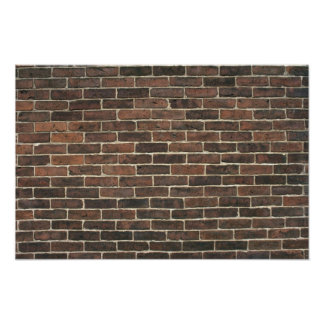 Illustrative Brown brick wall Posters