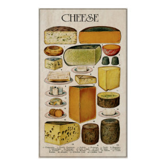 ILLUSTRATIVE CHEESE LOVER's PANEL 1907 Poster
