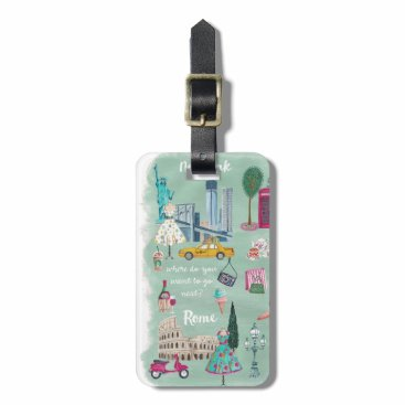 CartitaDesign Illustrative city map | Luggage Tag