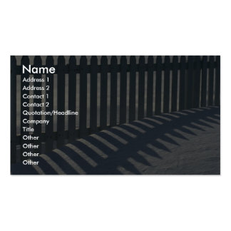 Illustrative Fence and shadow Business Card