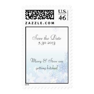 illustrative flowers postage stamp