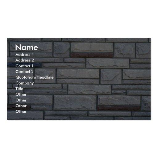 Illustrative Multi-brick wall Business Card Templates