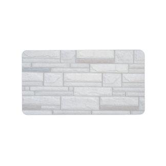 Illustrative Multi-brick wall Address Label