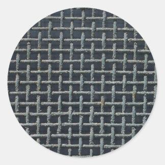 Illustrative Oxidized, thick metal screen Classic Round Sticker