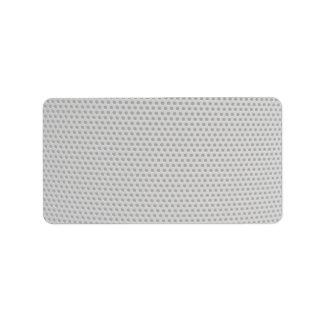 Illustrative Plastic grid Label