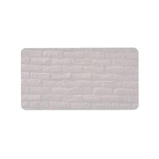 Illustrative Red brick wall Address Label