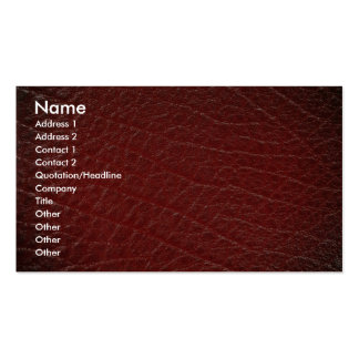 Illustrative Red leather texture Double-Sided Standard Business Cards (Pack Of 100)