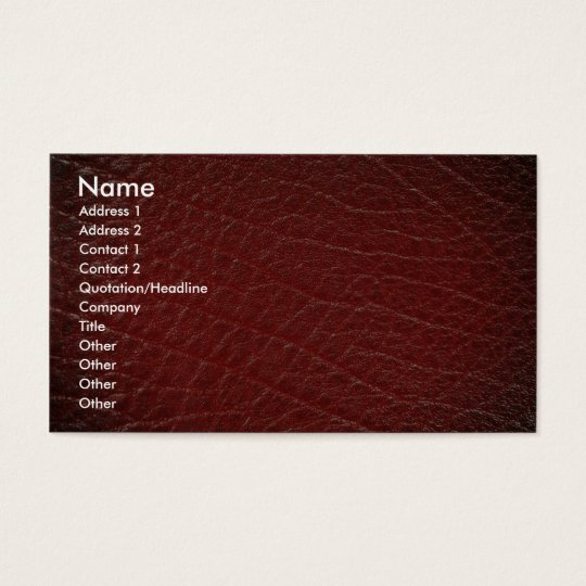 Illustrative Red leather texture Business Card