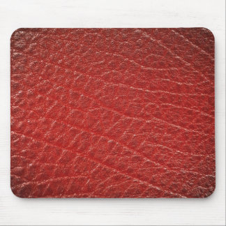Illustrative Red leather texture Mousepads