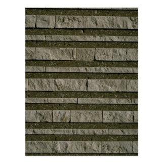 Illustrative Striped brick wall Postcard
