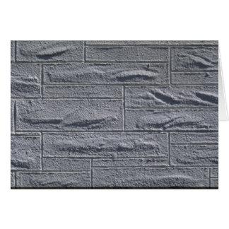 Illustrative Textured white brick wall Greeting Card