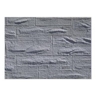Illustrative Textured white brick wall 5x7 Paper Invitation Card