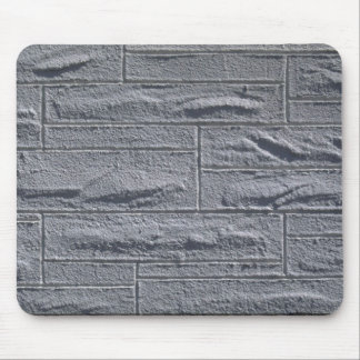 Illustrative Textured white brick wall Mouse Pads