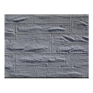 Illustrative Textured white brick wall Postcard