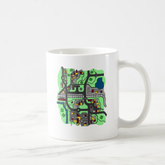 Illustrative Town Map Coffee Mug
