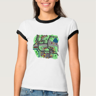Illustrative Town Map T-shirt