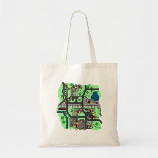Illustrative Town Map Tote Bag