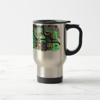 Illustrative Town Map Travel Mug