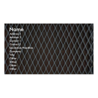 Illustrative White metal grill Double-Sided Standard Business Cards (Pack Of 100)