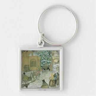 Illustraton for 'Dubrovsky', by Alexander Pushkin Keychain