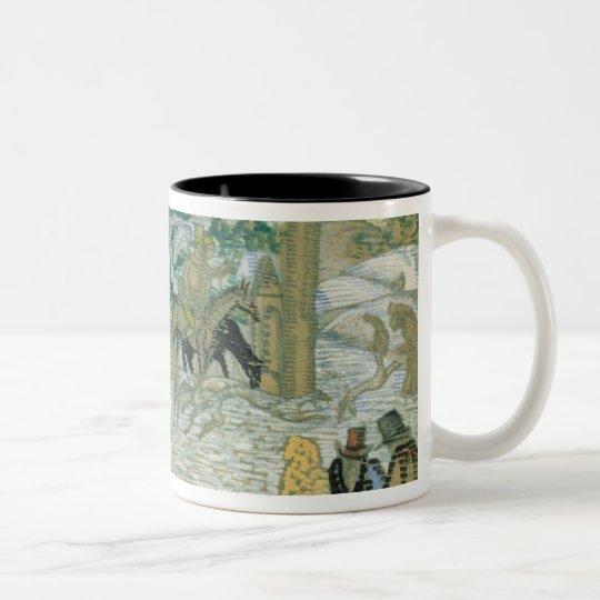 Illustraton for 'Dubrovsky', by Alexander Pushkin Two-Tone Coffee Mug