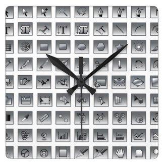 Illustrator Tools Graphic Designer Wall Clock