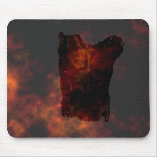 Illutration atractivo de encargo del sillhoutte mouse pads