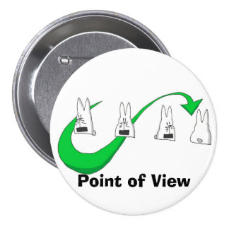illy14 punti di vista verde, Point of View Pinback Button