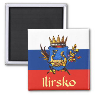 Illyria Coat of Arms 2 Inch Square Magnet