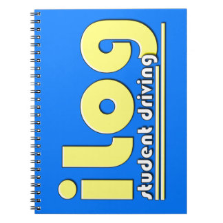 iLog Student Driving iPhone app Spiral Notebook