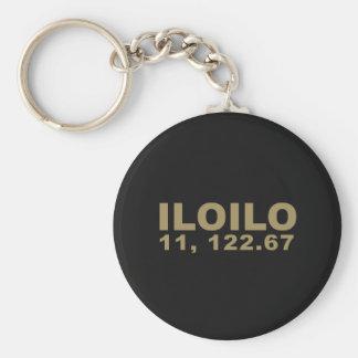Iloilo Coordinates 11, 122.67 Keychain