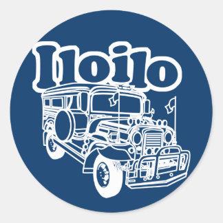 Iloilo Jeepney Classic Round Sticker