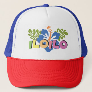 Iloilo Philippines on Tropical Hibiscus Flowers Trucker Hat
