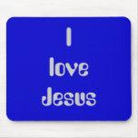 Ilove Jesus Mouse Pad